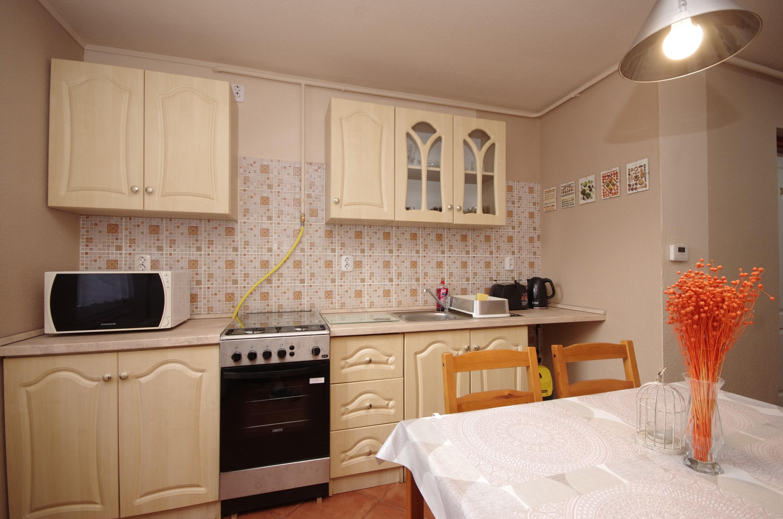 Étkező és konyha a gyulai Bodza apartmanban